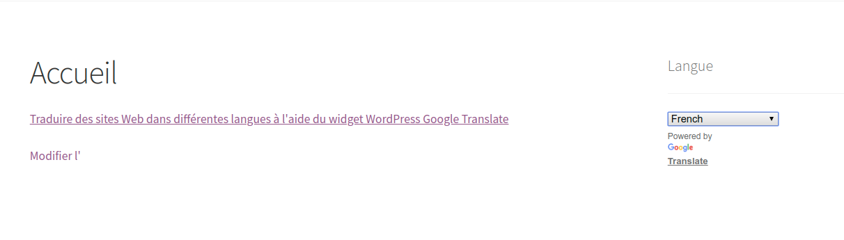 How to translate websites to different languages using WordPress Google Translate widget?