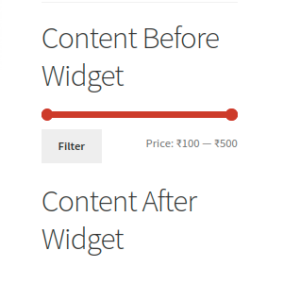 Extend Filter Products By Price Widget